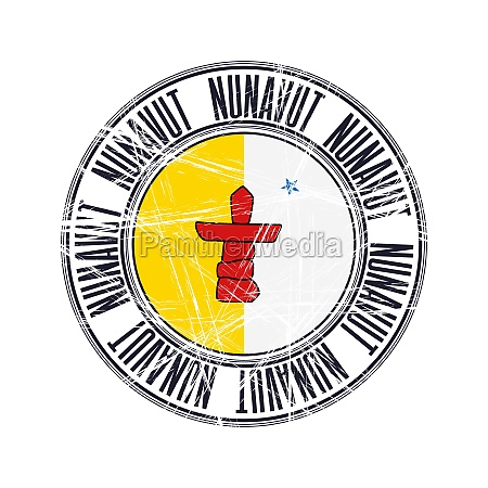 nunavut province stamp