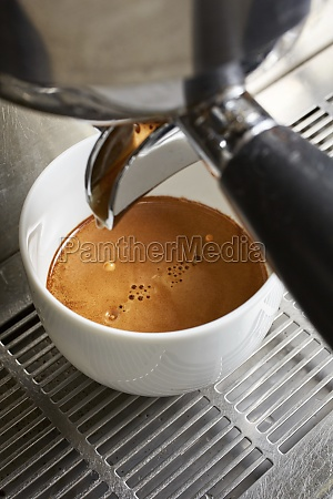creamy coffee from a coffee maker