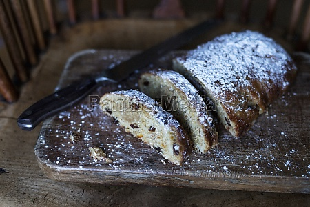 home made stollen enriched with butter