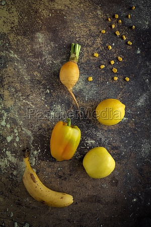 mix of fruits and vegetables in