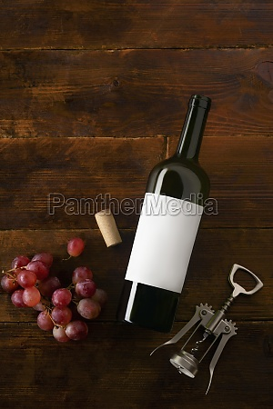 a wine bottle with a blank