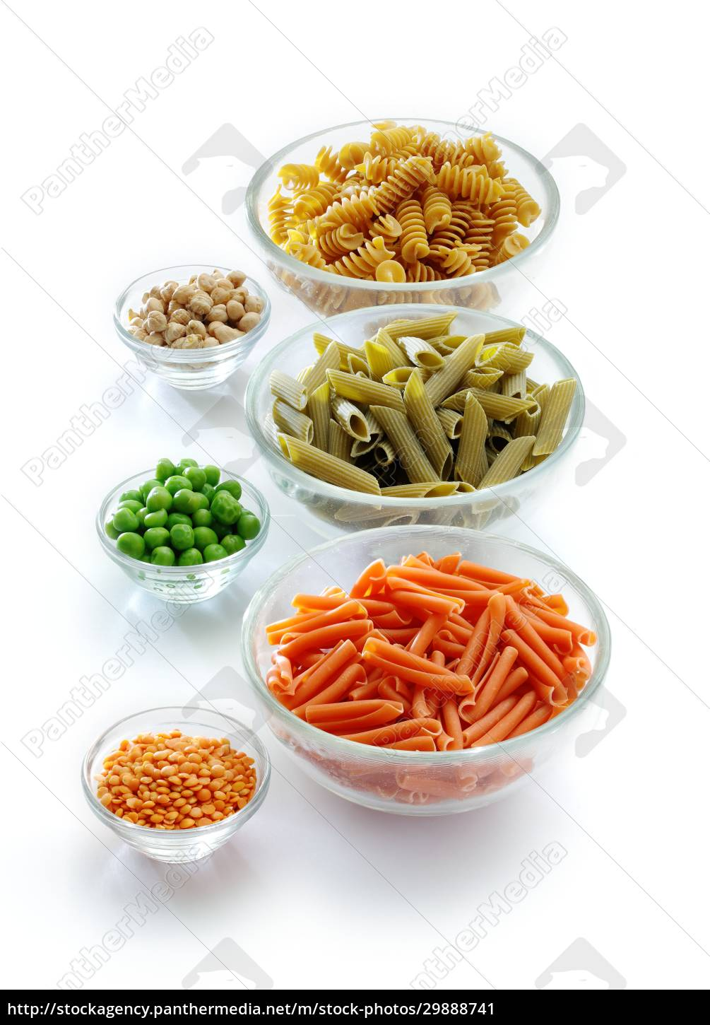 three, kinds, of, pasta, made, from - 29888741