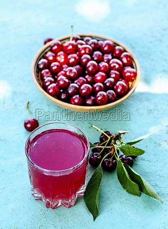 juice from fresh cherries