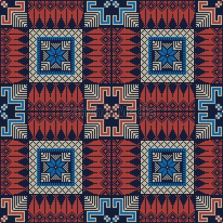 palestinian embroidery pattern 293