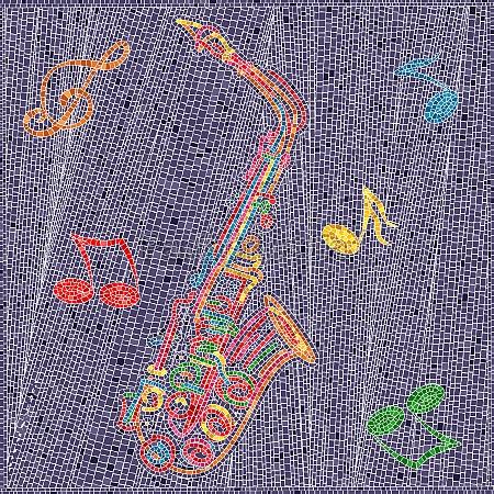 mosaic tiles saxophone