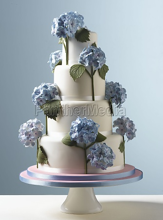 easter celebrations tiered white wedding cake