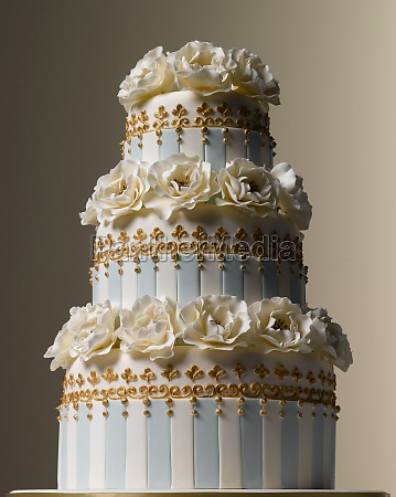 easter celebrations three tiered white and