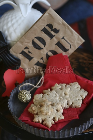 gluten free snowflake cookies on a