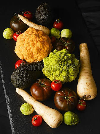 various types of vegetables on a