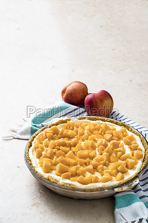 no bake peach and mango pie