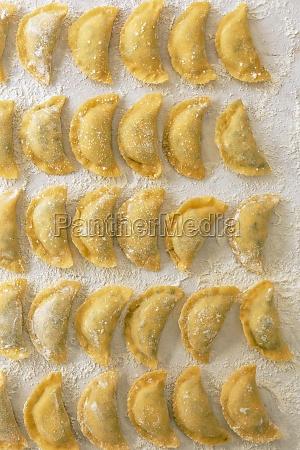 home made ravioli with soinach ricotta