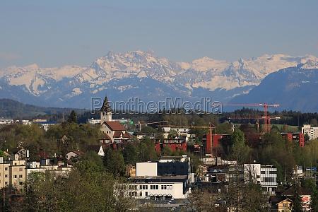 wetzikon town in zurich canton switzerland