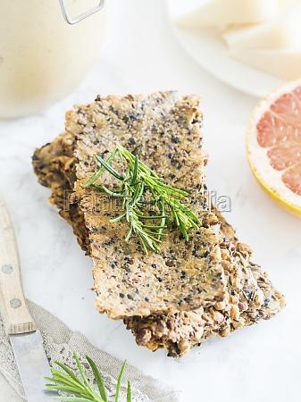 gluten free crunchy seed flat bread