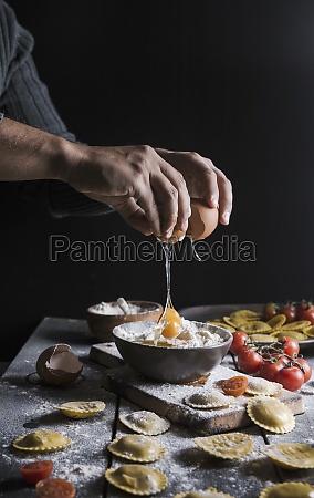 homemade ravioli made with parmesan cheese
