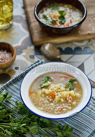 polish krupnik barley soup