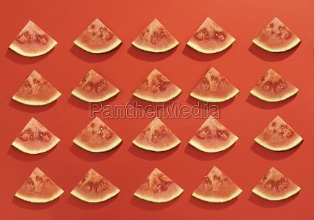 summer juicy fruit watermelon slices in