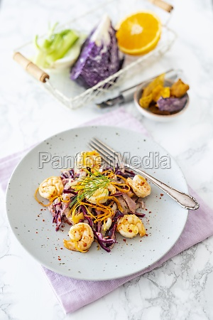 red cabbage and fennel coleslaw with