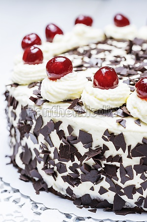 black forest cake close up
