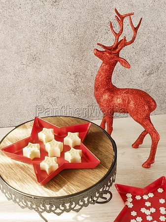 panna cotta stars as a christmas