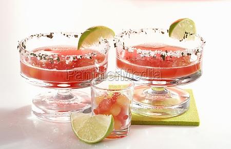daiquiris with watermelon rum orange liqueur