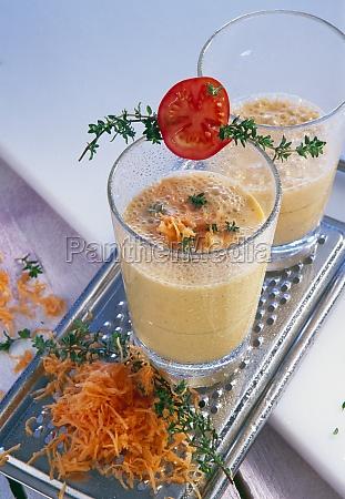 savory kefir smoothie fresh herbs and