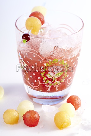 rose scented watermelon lemonade with melon
