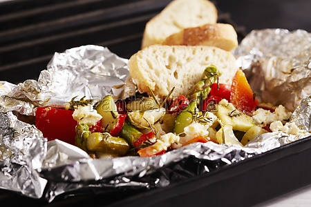 grilled mediterranean vegetables with a herb
