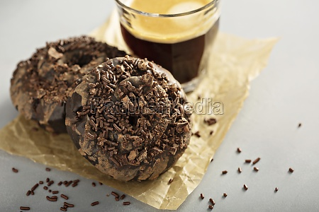 chocolate old fashioned fried donut with