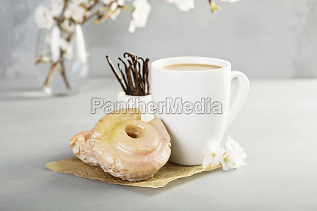vanilla old fashioned fried donuts with