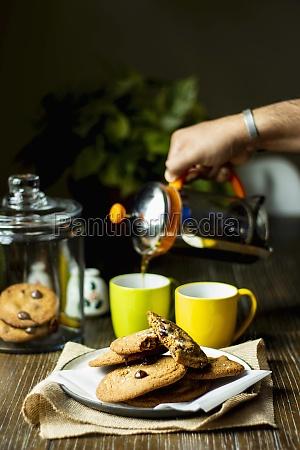 cookies served with freshly brewed coffee