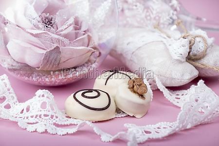 christmass new year decorations white chocolate