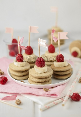 mini pancake stacks for a childs