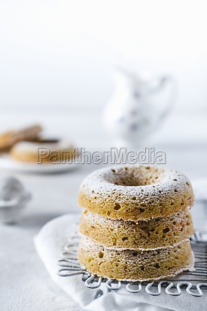 baked carrot donuts with icing