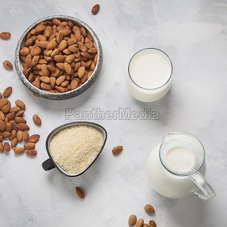 almond milk almond flour and almonds
