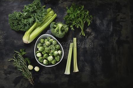organic raw green vegetables