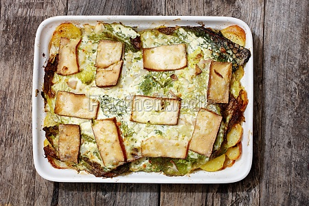 savoy cabbage bake with potatoes and
