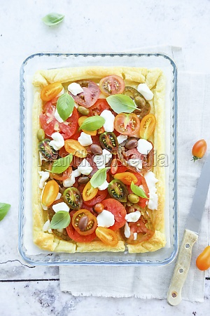 puff pastry cooked in white and