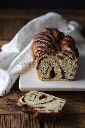 fresh twisted bread or cinnamon babka