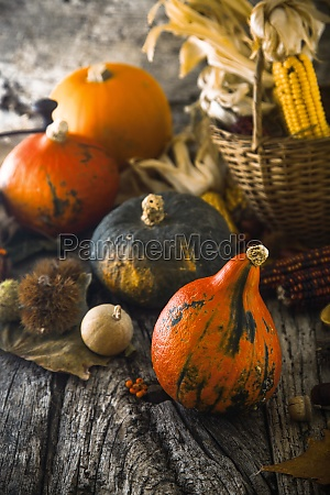 thanksgiving day dinner autumn fruit with