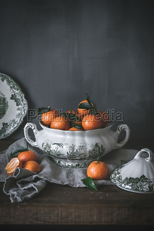 sophisticated still life with ripe orange