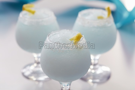 blue wind cocktail with vodka blue