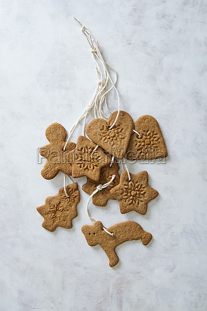 christmas ginger bread biscuits as a