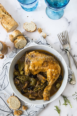 chicken alla boscaiola italy