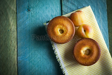 small peach cake