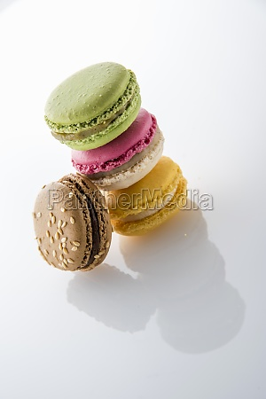 different colorful macarons