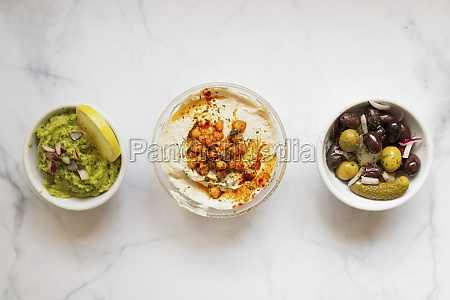 from, above, tasty, healthy, hummus, green - 29894769