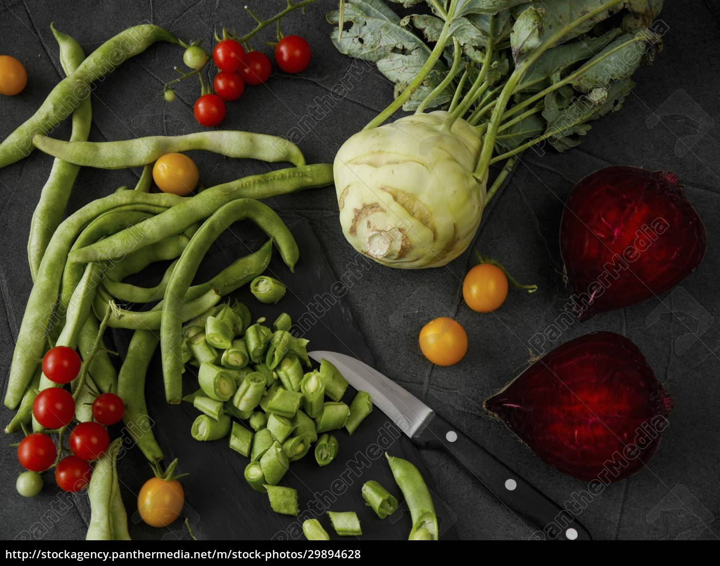vegetable, still, life, with, beans, , tomatoes, - 29894628