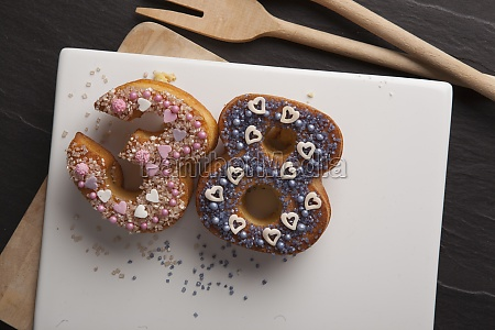 number shaped doughnuts