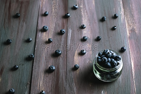 bowl with ripe blueberries