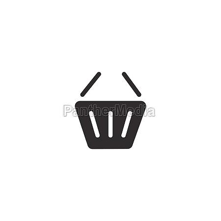 empty shopping basket isolated icon commerce
